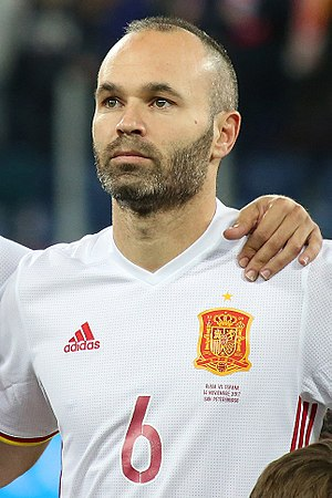 Andrés Iniesta - Iniesta with Spain in November 2017