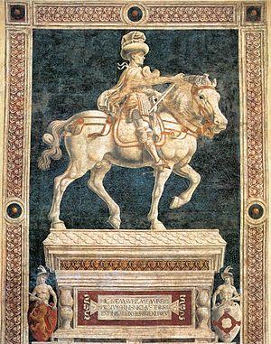 Equestrian Monument of Niccolò da Tolentino - Image: Andrea del castagno, momumento a niccolò da tolentino