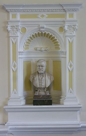 Central Library, Edinburgh - Image: Andrew Carnegie bust, Edinburgh Central Library