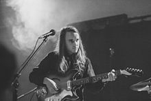 Andy Shauf performing on stage