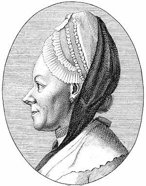 Anna Barbara Reinhart - Copper engraving of Anna Reinhart