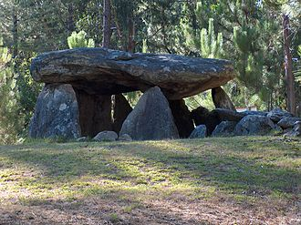 Neolithic architecture - A dolmen at Couto Esteves, Portugal