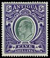 Antigua 1903 five shilling stamp.jpg