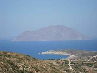 Antimilos - View from Milos in August 2014.