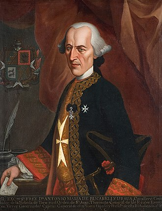 Antonio María de Bucareli - Portrait by Francisco Antonio Vallejo, 1772