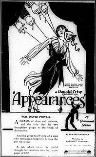 <i>Appearances</i> (film) 1921 film