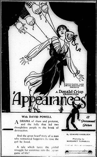 Appearances (film) - American advertisement