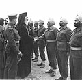 Archbishop Damaskinos inspects Indian troops in Salonika 1945.jpg
