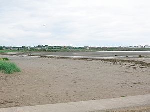 Ardrossan - Ardrossan North Bay - site of the murder of the 10th Earl of Eglinton in 1769.