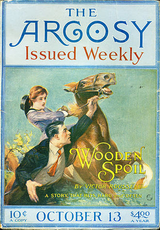 "Victor Rousseau Emanuel - Rousseau Emanuel's ""Wooden Spoil"" was originally published in the 13 October 1917 issue of The Argosy"