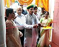 Arjun Ram Meghwal inaugurating an Exhibition on Parliamentary Democracy - 'Naya Bharat Hum Karke Rahenge' (We Resolve to Make New India), conceptualized by the Ministry of Parliamentary Affairs, designed by the DAVP.jpg