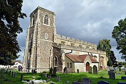 Arlesey, Bedforedshire, St Peters SW aspect.JPG