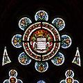 Armes des ducs de Bretagne dans les vitraux du chevet de l'église Saint-Aubin en Notre-Dame-de-Bonne-Nouvelle, Rennes, France.jpg