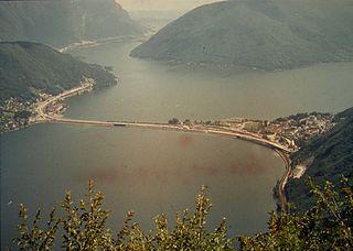 Melide causeway construction
