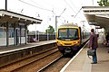 Arriving train at Downham Market - geograph.org.uk - 1351419.jpg