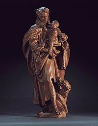 Artus Quellinus de Jonge, Ontwerp voor een beeld van de heilige Antonius van Padua- Ébauche d'une statue de saint Antoine de Padoue, KBS-FRB.jpg
