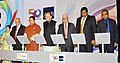 Arun Jaitley along with the Finance Ministers of Bangladesh, Bhutan, Maldives, Myanmar, Nepal, Sri Lanka launching the SASEC Vision, at the South Asia Subregional Economic Cooperation (SASEC) Finance Ministers' meeting.jpg