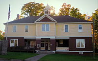 Arvon Township Hall, Skanee, Michigan.JPG