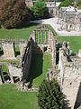 Ashb de la Zouch Castle main hall as seen from the tower.JPG