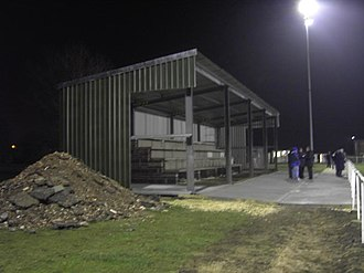 Askern F.C. - Image: Askern villa main stand