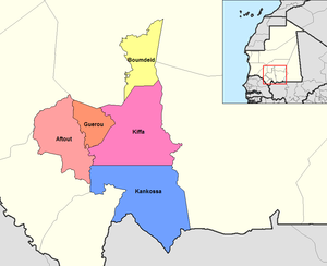 Departments of Mauritania - Departments of Assaba