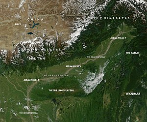 Physical geography of Assam - Assam Valley and Environs