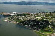 Astoria aerial from Youngs Bay
