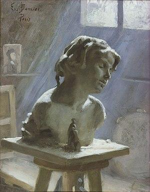 Eva Bonnier - Image: Ateljéinteriör i Paris