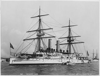 Protected cruiser - USS Atlanta in 1891.