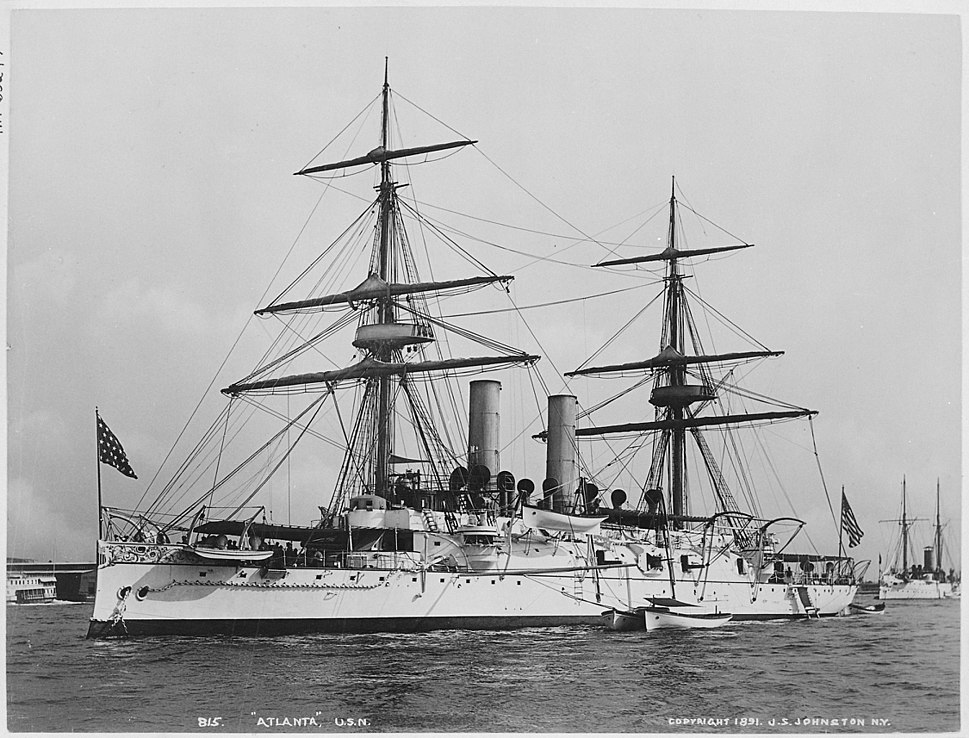 Atlanta (protected). Port bow, 1891 - NARA - 512894