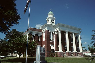 National Register of Historic Places listings in Attala County, Mississippi - Image: Attala County Mississippi Courthouse