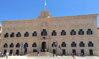 Prime Minister of Malta - Auberge de Castille, the Office of the Prime Minister