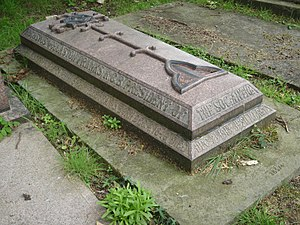 Augustus Wollaston Franks - Funerary monument, Kensal Green Cemetery, London