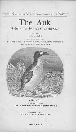 The Auk - Image: Auk Jan 1884