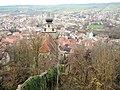 Ausblick von der 1228 beurkundeten Burg Herrenberg (Ruine) auf dem Schlossberg auf die Stiftskirche - panoramio.jpg