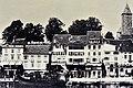 Ausstellung 'Der Zeit voraus - Drei Frauen auf eigenen Wegen' - Stadtmuseum Rapperswil - Alwina Gossauer, Hotels an der Schifflände in Rapperswil um 1880 mit ihrem Atelier und Laden im Hotel 'Belle-Vue' 2015-09-05 16-29-23.JPG