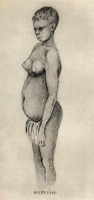 Thomas Henry Huxley -  Australian woman:  Pencil drawing by Huxley