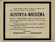 """""""Obituário"""" do Império Austro-Húngaro publicado em Cracóvia no ano de 1918"""