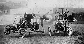 Auto polo - Auto polo match in the 1910s. Malletmen were often thrown from the cars during matches.