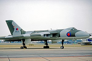 No. 50 Squadron RAF - Avro Vulcan B.2 of No. 50 Squadron at RAF Mildenhall in 1976.