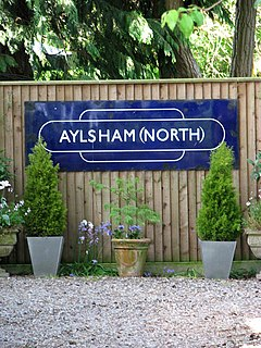 Aylsham North railway station Former railway station in Norfolk, England