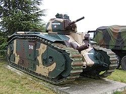 A Char B1 a franciaországi Mourmelon-le-Grand military campben