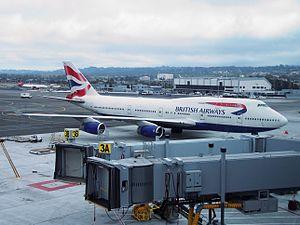 British Airways Flight 268 - G-BNLG taxiing at San Francisco International Airport, 31 May 2008