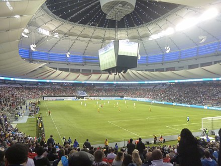 Interior scene at BC Place during a 2011 Major League Soccer season match between the Vancouver Whitecaps FC and Real Salt Lake BC Place - night game (6219415118).jpg