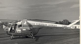 No. 110 Squadron RAF - A Bristol Sycamore of the now defunct British European Airways (BEA)