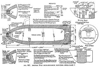 BL 12-inch howitzer - Image: BL 12 inch Howitzer Shell Mk V Diagram