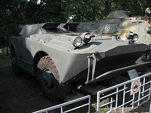 BRDM-1 armored scout car at the Muzeum Polskiej Techniki Wojskowej in Warsaw.JPG