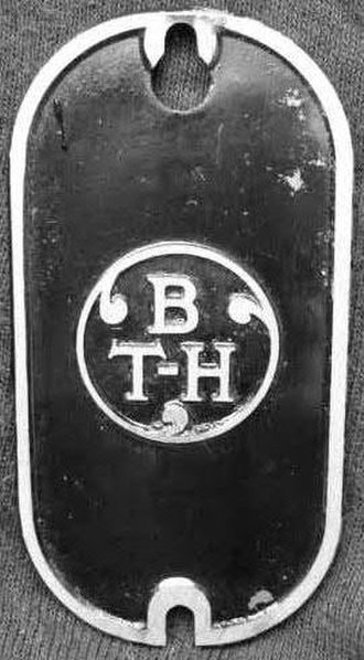 British Thomson-Houston - Image: BTH logo on inspection plate