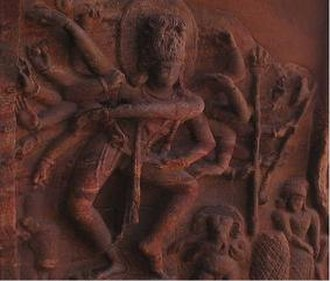 Bagalkot district - Chalukyan sculpture of Shiva in cave temple no. 1