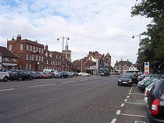 Baldock historic market town in Hertfordshire, England